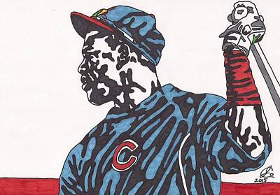 Chicago Baseball Drawing - Jorge Soler 1 by Jeremiah Colley