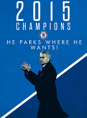 Champion Digital Art - Jose Mourinho by Semih Yurdabak