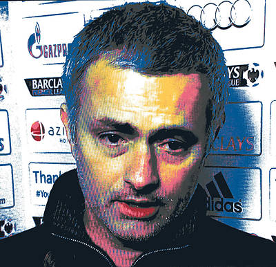 Jose Mourinho Print by Shay Culligan