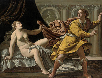 Joseph And Potiphar's Wife Print by Workshop of Marco Antonio Bassetti