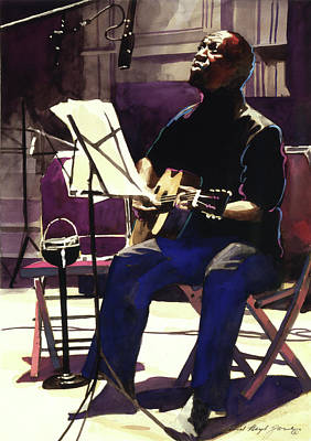 Singer Painting - Josh White Singing The Blues by David Lloyd Glover