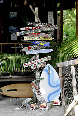 Directional Signage Photograph - Jost Van Dyke Signage by Kristina Deane