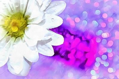 White Daisy Photograph - Joy Is All Around by Krissy Katsimbras