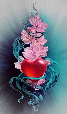Google Drawing - Joy Of Loving Heart by Irina Effa