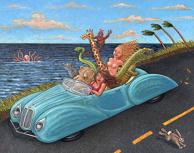 Orangutan Painting - Joy Ride by Holly Wood