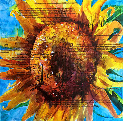 Mixed Media - Joy - Sunflower by Trish McKinney