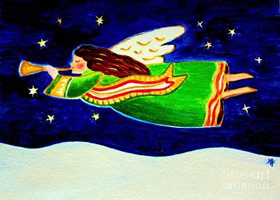 Night Angel Painting - Joy To The World by Hazel Holland