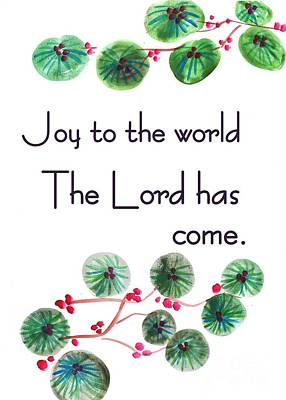 Joy To The World Print by Sweeping Girl