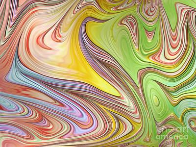 Abstract Shapes Digital Art - Joyful Flow by John Edwards