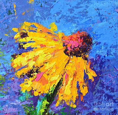 Vivid Colour Painting - Joyful Reminder Modern Impressionist Floral Still Life Palette Knife Work by Patricia Awapara