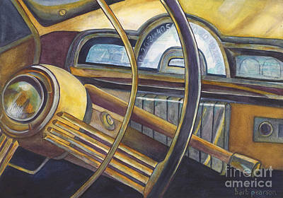 Antique Car Painting - Joyride by Barb Pearson