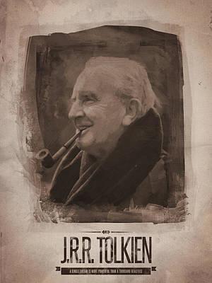 Tolkien Digital Art - J.r.r. Tolkien by Afterdarkness