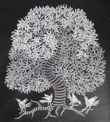 Japani Shyam Painting - Js 156 by Japani Shyam
