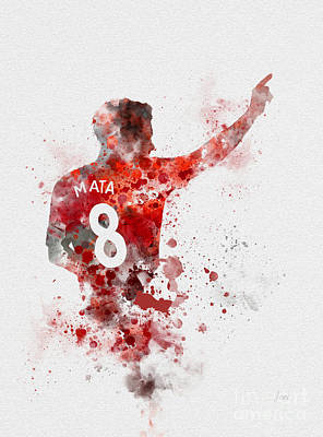 Soccer Mixed Media - Juan Mata by Rebecca Jenkins