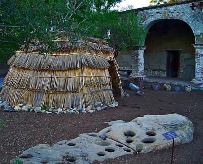 Grind House Photograph - Juaneno Kiitcha Hut Mission San Juan Capistrano California by Karon Melillo DeVega