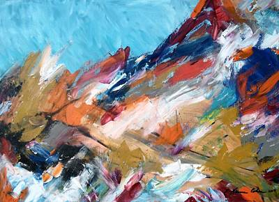 Jordan Painting - Judean Hill Abstract by Esther Newman-Cohen