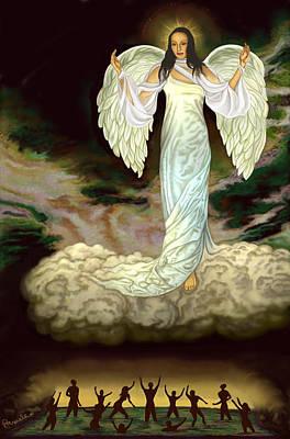Womens Painting - Judgement Goddess by Pamela Wells