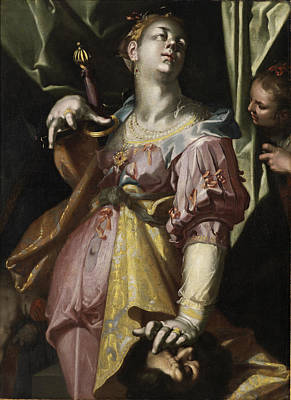 Judith Painting - Judith And The Head Of Holofernes by Joachim Wtewael