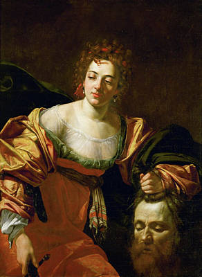 Religion Painting - Judith And The Head Of Holofernes by Simon Vouet