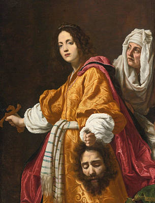 Judith Painting - Judith Holding The Head Of Holofernes by Cristofano Allori