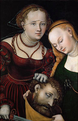 Judith Painting - Judith With The Head Of Holofernes And A Servant by Lucas Cranach the Elder