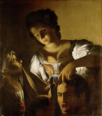 Judith Painting - Judith With The Head Of Holofernes by Carlo Saraceni