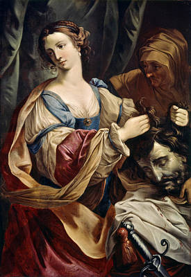 Judith Painting - Judith With The Head Of Holofernes by Elisabetta Sirani