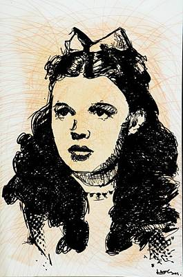 Judy Garland Painting - Judy  by Harry Moores