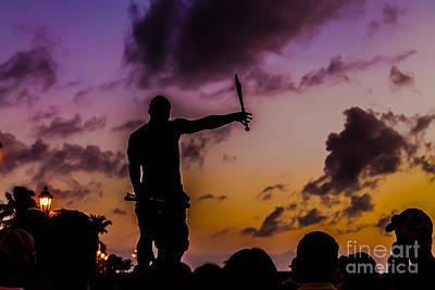 Juggler At Sunset Print by Claudia M Photography