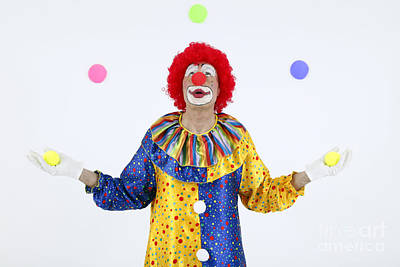 Juggling Clown Print by Rolf Fischer