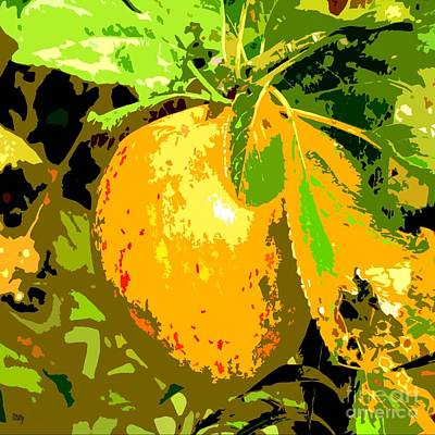 Juicy Apple On A Tree Print by Patrick J Murphy