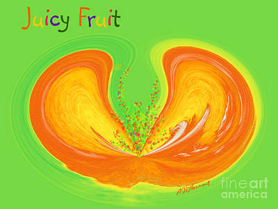 Lemon Digital Art - Juicy Fruit by Methune Hively