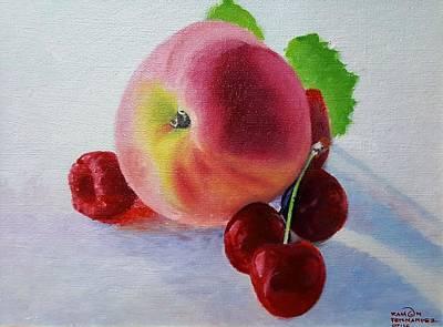 Ramon Fernandez Painting - Juicy Fruits by Ramon Fernandez
