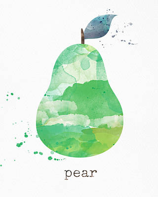Pears Mixed Media - Juicy Pear by Linda Woods