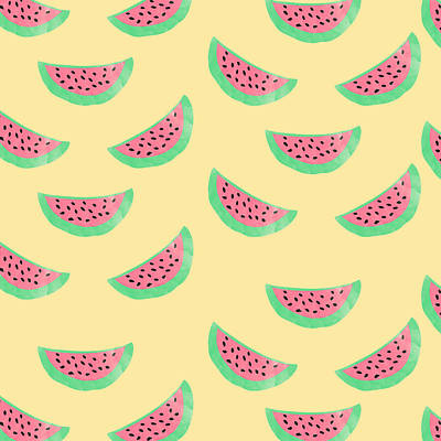 Watermelon Digital Art - Juicy Watermelon by Allyson Johnson