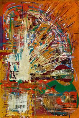 Jukebox Painting - Jukebox by Karen Merry