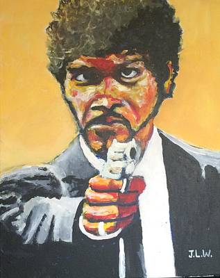 Samuel L Jackson Painting - Jules by Justin Lee Williams