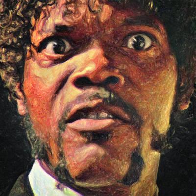 Tarantino Film Painting - Jules Winnfield by Taylan Soyturk