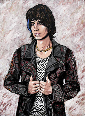 Painting - Julian Casablancas White by Sarah Crumpler