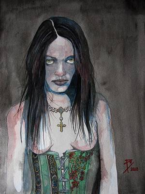 Menace Painting - Juliet by Ray Agius