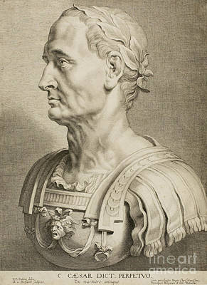 Julius Caesar Print by Roman School