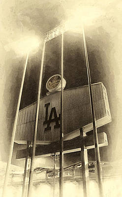 Tron Photograph - Jumbo Tron At Dodger Stadium by Ron Regalado