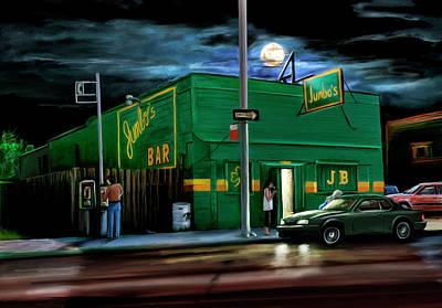 Corridor Digital Art - Jumbo's Bar Detroit by David Kyte