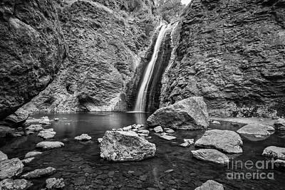 Photograph - Jump Creek Bw by C Steele
