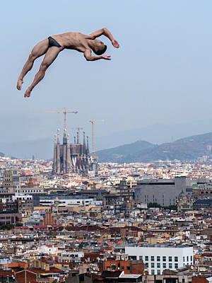 Barcelona Photograph - Jump by Klaus Lenzen