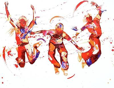Exuberance Painting - Jump by Penny Warden