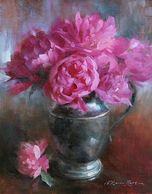 Peonies Painting - June Bouquet by Anna Rose Bain