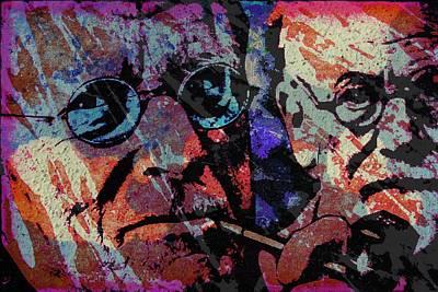 Jung And Freud Print by Otis Porritt