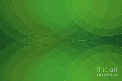 Digital Art - Jungle Semi Circle Background Horizontal by Frank Ramspott
