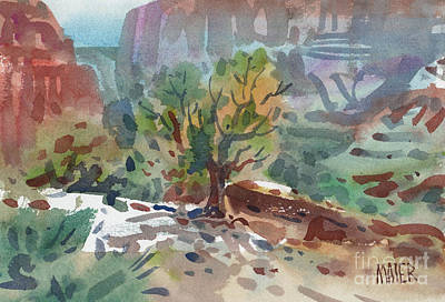 Juniper In Canyon De Chelly Print by Donald Maier